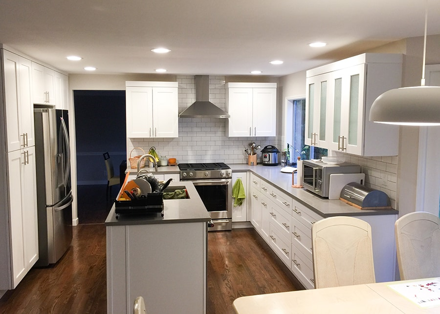 Image of a Redmond kitchen remodel done by Makswell Construction
