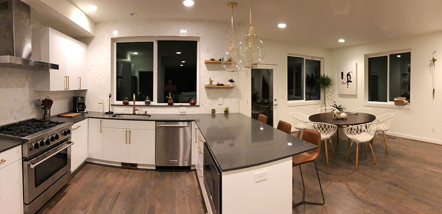 Image of a Seattle kitchen remodel done by Makswell Construction