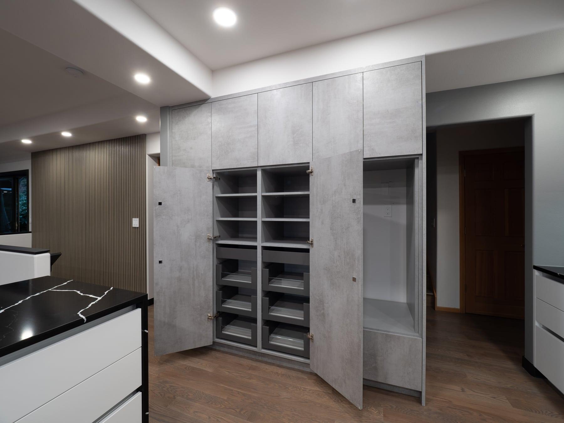 Bellevue kitchen and living room remodel